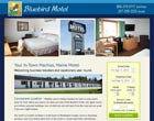 Motel website design client, Bluebird Motel, Machias