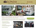 Website design client, The Village Doctor, Winter Harbor