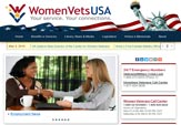 Website design client, WomenVetsUSA